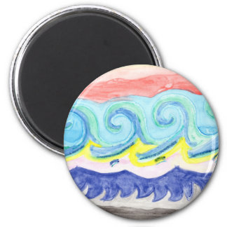 Watercolor Waves Magnet
