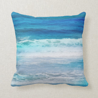 Watercolor Waves Pillow