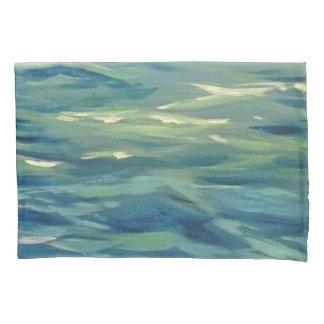 watercolor waves pillowcase