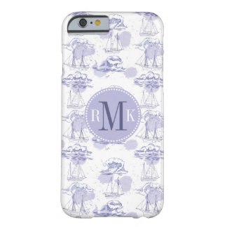 Watercolor Waves & Ships Pattern Barely There iPhone 6 Case