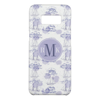 Watercolor Waves & Ships Pattern Case-Mate Samsung Galaxy S8 Case