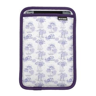 Watercolor Waves & Ships Pattern iPad Mini Sleeve