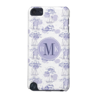 Watercolor Waves & Ships Pattern iPod Touch 5G Case
