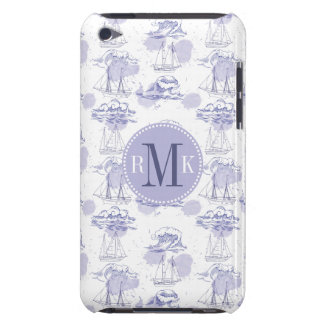 Watercolor Waves & Ships Pattern iPod Touch Cover