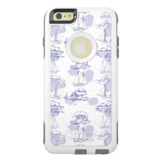 Watercolor Waves & Ships Pattern OtterBox iPhone 6/6s Plus Case