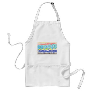 Watercolor Waves Standard Apron
