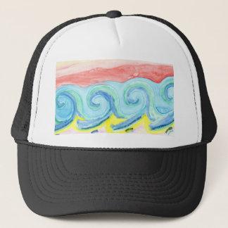 Watercolor Waves Trucker Hat