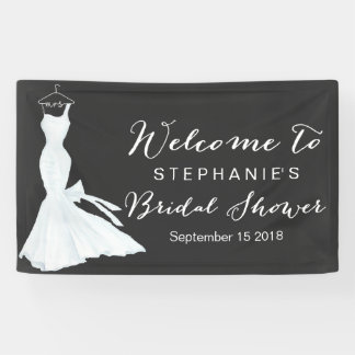 Watercolor Wedding Gown Chalkboard | Bridal Shower Banner