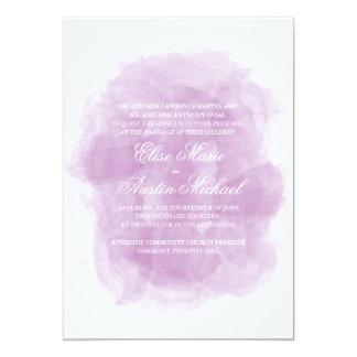 Watercolor Wedding Invitation - Purple Watercolor