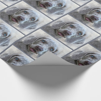Watercolor Weimaraner Puppy Dog Wrapping Paper