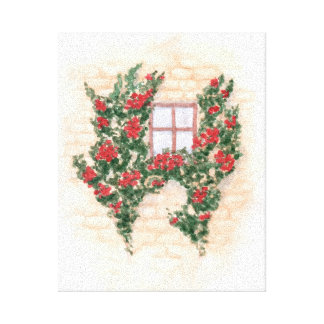 Watercolor Window Canvas Print