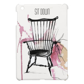 Watercolor Windsor Chair IPad Case