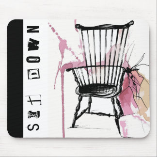 Watercolor Windsor Chair Mouse Pad