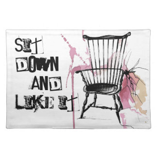 Watercolor Windsor Chair Place Mat