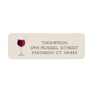 Watercolor Wine Personalized Return Address Labels