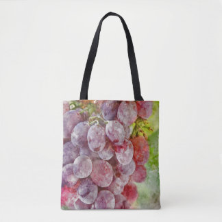 Watercolor Wine Vineyard Tote Bag