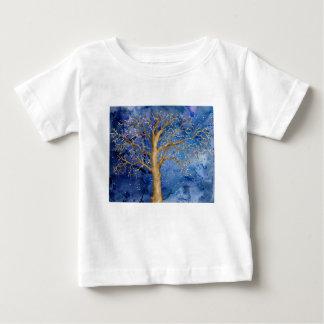 Watercolor Winter Oak Tree Baby T-Shirt
