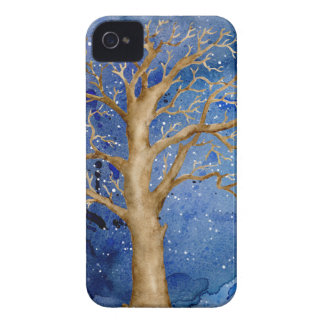 Watercolor Winter Oak Tree Case-Mate iPhone 4 Case