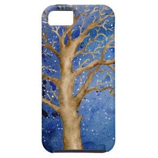 Watercolor Winter Oak Tree iPhone 5 Case