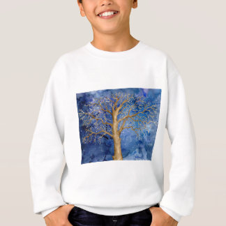 Watercolor Winter Oak Tree Sweatshirt