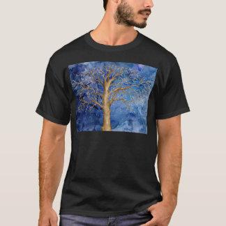Watercolor Winter Oak Tree T-Shirt