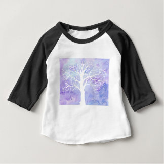 Watercolor winter tree in snow baby T-Shirt