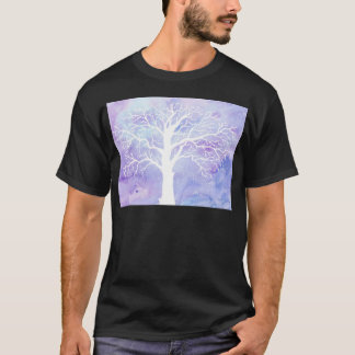 Watercolor winter tree in snow T-Shirt
