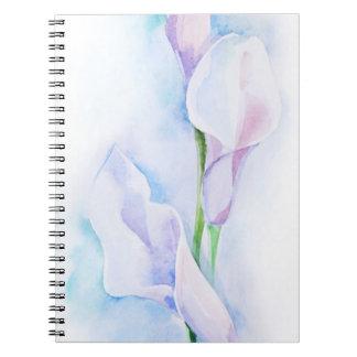 watercolor with 3 callas notebook