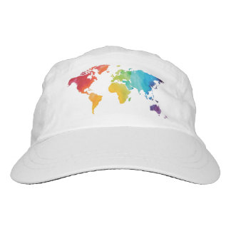Watercolor World Map Baseball Cap