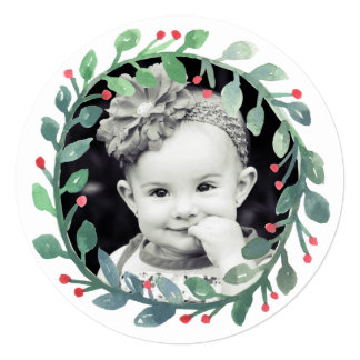 Watercolor Wreath | Christmas Card
