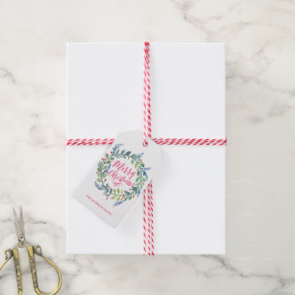 Watercolor Wreath Collection Gift Tags