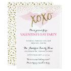 Watercolor XOXO Valentine's Party Invitations