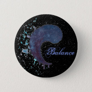 Watercolor Yin Yang - Balance 2 Inch Round Button