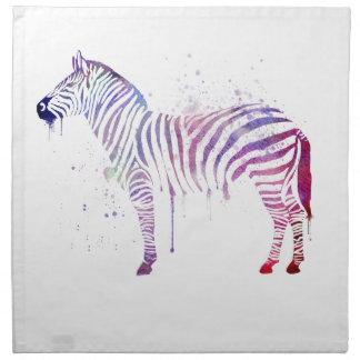 Watercolor Zebra Napkin