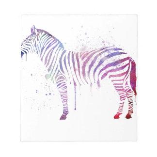 Watercolor Zebra Notepad