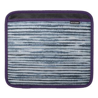 Watercolor Zebra Stripes in Blue iPad Sleeve