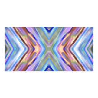 Watercolored - Brightly Colored Abstract Photo Card Template