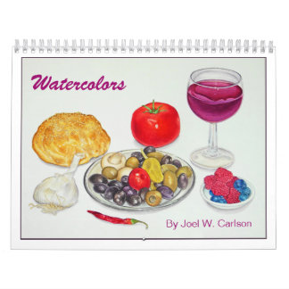 Watercolors by Joel W. Carlson Wall Calendar