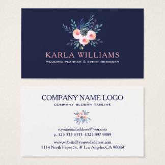 Watercolors Colorful Floral Bouquet Business Card