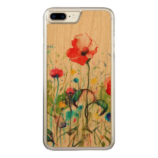 Watercolors Colorful Flowers Illustration Carved iPhone 7 Plus Case