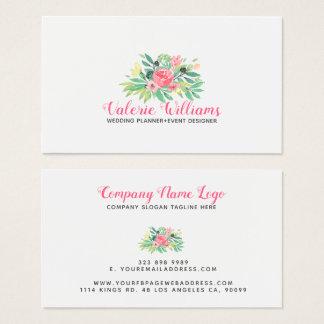 Watercolors Flowers Bouquet Business Card