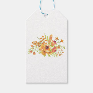 Watercolors flowers gift tags