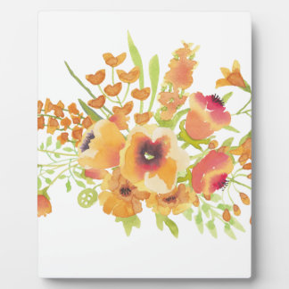 Watercolors flowers plaque