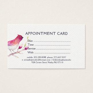 Watercolors Illustration Bird & Pink Magnolia Business Card