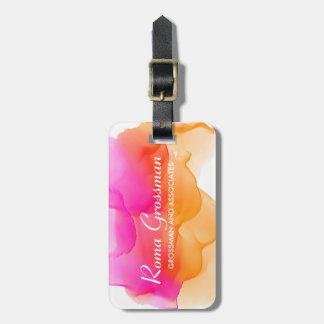 Watercolors Sorbet Luggage Tag