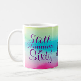 "Watercolors ""Still Stunning At 60""  60th Birthday Coffee Mug"