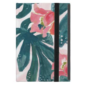 Watercolot Tropical Palm,Hawaiian Hibiskus iPad Mini Cover