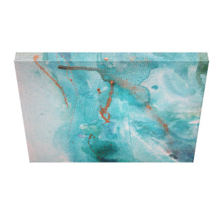 Watercolour abstract canvas print