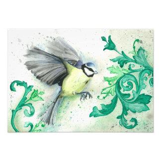 Watercolour bird painting, art print photo print