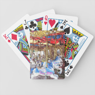 Watercolour Carousel Bicycle Playing Cards